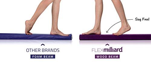milliard wood folding balance beam 9 5 feet gymnastics floor beam  wood base with foam top and