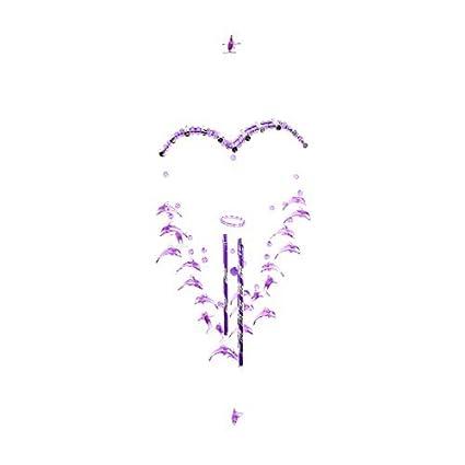 eDealMax Regalos plástico vacaciones Diseño del delfín colgante de Los granos colgantes Windbell púrpura