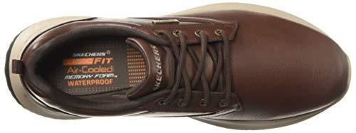 Skechers Antigo Delson Lacets Hommes Chaussures Marron À wrpwq0