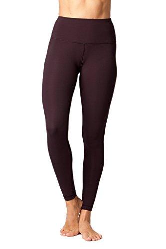Yogalicious High Waist Ultra Soft Lightweight Leggings – High Rise Yoga Pants – Fig Sugar – Large