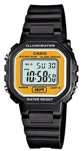Casio #LA20WH-9A Women's Black Chronograph Alarm LCD Digital Watch