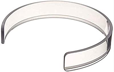 """Sammons Preston 1114 Invisible Food Guard, Reusable Snap-On Ring Fits 6""""-7.5"""" Plates, 1.25"""" High Crystal Clear, Dishwasher Safe Plate Ring with Sure Fit"""