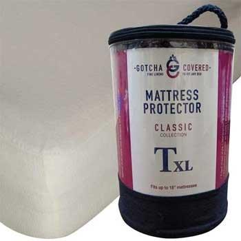 Classic Mattress Protector, Split-Head California King, Ecru