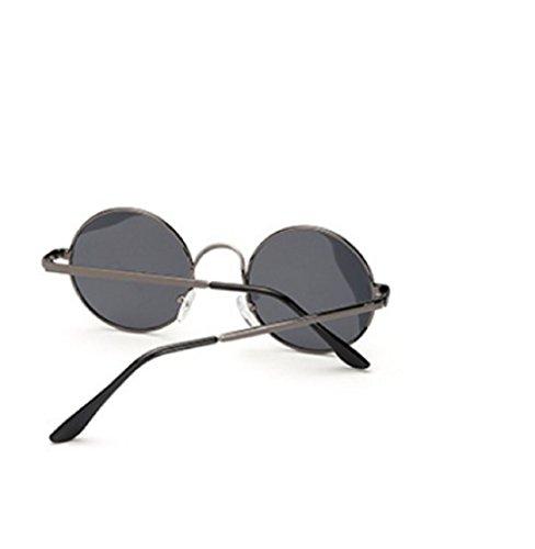 sol hombre gafas polarizada negro Hippie UV400 Jhon Lennon unisex redondos modelo de EfqAn8