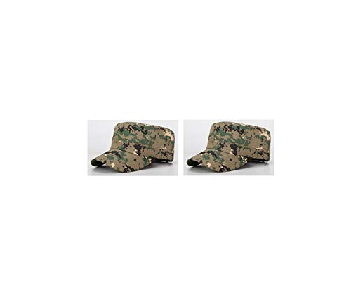 Cadet Army Cap Everyday Miltary Style Hat [2 Pack] Private Patrol Cap Cotton Basic Cap (E)