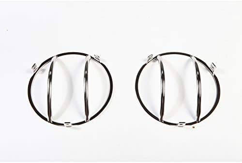 Rugged Ridge 11142.01 Stainless Front Euro Head Light Guard Pair