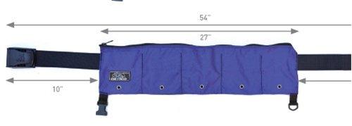 XS Scuba Zippered 5 Pocket 25lb Weight Belt (Blue) ()