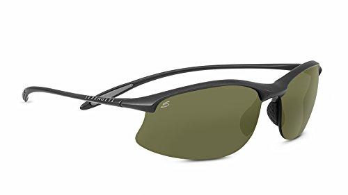 Serengeti Maestrale Polarized Sunglasses, Sanded Dark Gray
