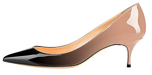 Cm Chaussure Moyen Escarpins 6 Aiguille Bureau 5 Talon Beigenoir Femme Hauteur Edefs 1T0Ba
