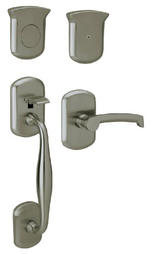 Baldwin 85325.151.RFD Tahoe Sectional Trim Right Hand Dummy Handleset with Tahoe Lever, Antique -