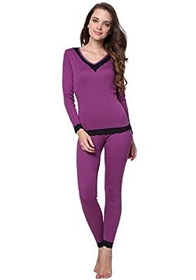 Godsen Women's Thermal Underwear Set Sleepwear Tops & Bottoms