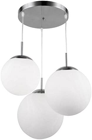 Pendel Hänge Leuchte Decken Lampe Licht SANDNESS chrom transparent dimmbar NEU