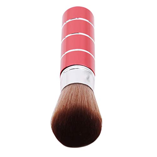 YESMAEA Retractable Makeup Brushes Cosmetics Professional Essential Metal Shell Make Up Brush Rouge Brush Loose Powder Brush Red