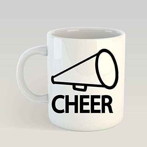 GANTEE - Cheer under megaphones MUG 11ozFunny Coffee Mug, Feminist Mug, Unique coffee mug, Ceramic coffee mug, Gift for Men or Women, Cool Brother Gift Ideas. -