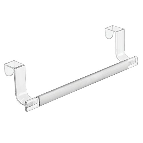 - InterDesign Metro Rustproof Aluminum Over-the-Cabinet Kitchen Dish Towel Bar Holder - 9