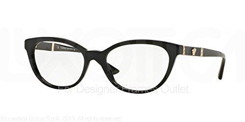 Versace Damen Brille » VE3219Q«, schwarz, GB1 - schwarz