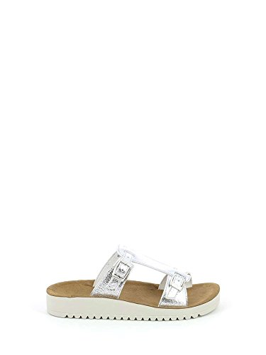 Grunland Women's Grek Argento and Silver Beach Shoes Pool gagxrPqw6