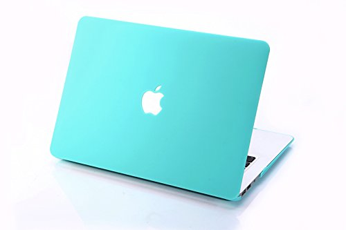 MacBook-Compatible Case, 3C-LIFE Frosted Dull Polish Surface Colorful Slim Shockproof Scratchproof Hard Shell Cover Case for MacBook Air11 (Compatible Cyan Box)