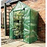 Gardman 7620 Compact Walk-In Greenhouse with Shelving, 29″ Long x 56″ Wide x 77″ High