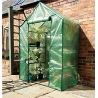 Gardman 7620 Compact Walk-In Greenhouse with Shelving, 29″ Long x 56″ Wide x 77″ High