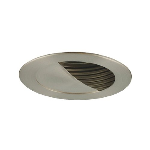 Jesco Lighting TM304STST 3-Inch Aperture Low Voltage Trim Recessed Light, Adjustable Scoop Wall Washer With Step Baffle, All Satin Chrome Finish - Scoop Wall Washer