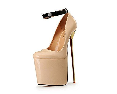 Us9 Kengät Naiset Plus Sandaalit 28a eur40 Korkea Kantapää 5 18 Erittäin Pumpun Beige Alustan A 22cm Kokoiset 50 wzqqHvrx8Y