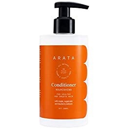 Arata Natural Nourishing Hair Conditioner With Maple, Sugarcane & Blueberry Extracts For Men & Women   All-Natural, Vegan & Cruelty-Free   For Healthy & Smooth Hair – 300 ML