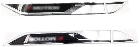 CAR GTI TWO SIDE FENDER BADGE EMBLEM METAL DECORATIVE VENT BADGES X 2 PIECES