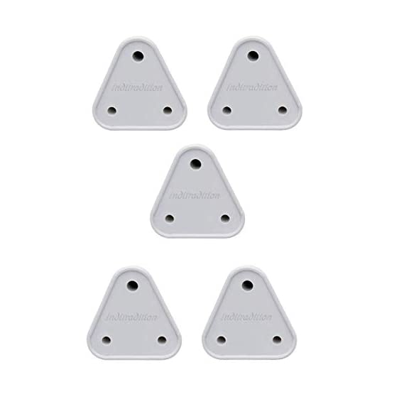 Inditradition Baby Safety Electrical Socket Cover Guards, for 5 amp Sockets, White (Pack of 5)