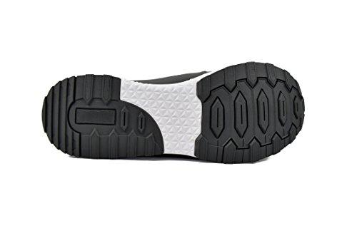 Zerimar Chaussures De Golf En Cuir De Vachette Sport Et Confortable Couleur De Course Décontractée Gris Taille 42