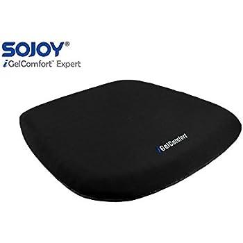 Sojoy iGelComfort Coccyx Orthopedic Breathable Gel Seat Cushion (black)