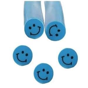 Fimo Mini Emoticones seguir sonriendo Nail Art Barras 5 cm - 03 Azul