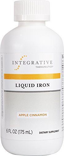 Integrative Therapeutics - Liquid Iron (Non Heme) - With Vitamin B12 and Folic Acid - Apple Cinnamon Flavor - 6 fl oz