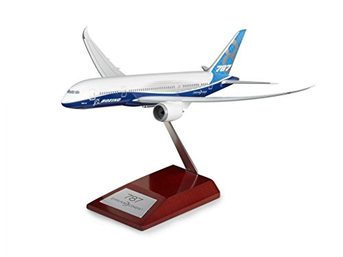 Boeing   787 8 Plastic 1 200 Model With Wooden Stand