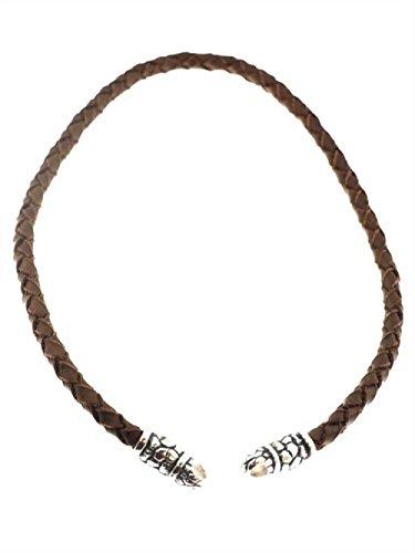 Creative Beads - RockIT Basic - Chaine en Cuir Tressé - 6mm - 45cm de Longueur - Marron - Fermeture en Acier Inoxydable pour Bague Charms