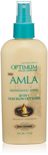 SoftSheen-Carson Optimum Salon Haircare Amla Legend 10-in-1 Silky Blow-Out Elixir, 6 oz (Best Shampoo For Silky Hair In India)