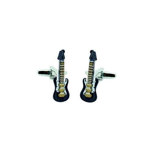 MasGemelos - Gemelos Guitarra Eléctrica Azul 3D Cufflinks: Amazon.es ...