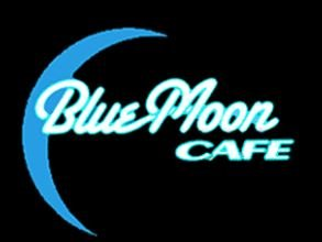 8960 Blue Moon Cafe window sign by Miller ()