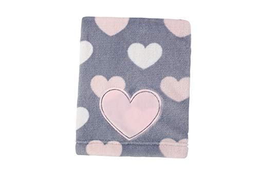 (Hebel Little Love by Appliqued Coral Fleece Blanket, Hugs and Kiss | Model BLNKT - 10 | 68)