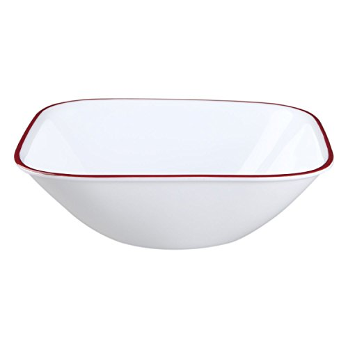 Corelle Square Splendor 22 Ounce Soup/Cereal Bowl (Set of (Corelle Square Bowls)
