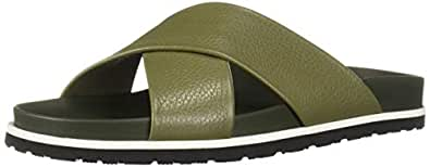 Aquatalia Men Tanner Pebbled Calf Green Size: 7 US