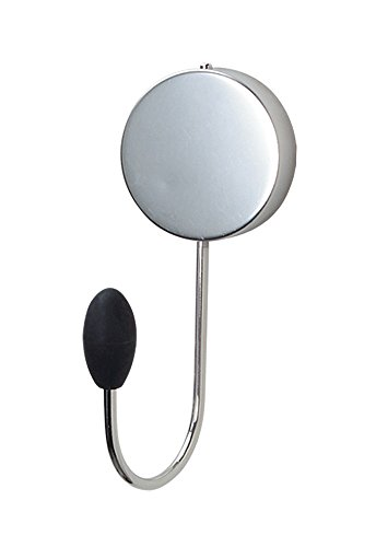 """$8.09 Better Houseware Silver Stainless Steel Single Magnetic Hook, 2"""" Diameter Magnet - Industrial Strength Magnet Holds Heavy Items on Sturdy Swivel Hook with 3"""" of Depth, Adheres to Any Steel Surface"""