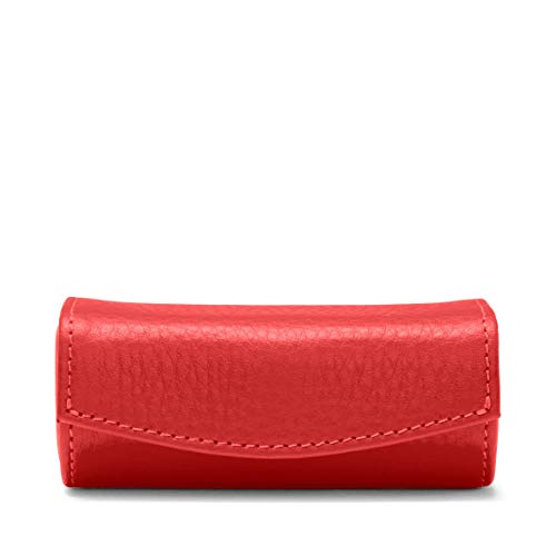 Lipstick Case - Full Grain Leather Leather - Scarlet (red)
