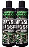 Master Formula Metal Gloss Chrome -Aluminum Polish (2 12 oz bottles) by Master Formula