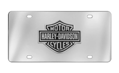Harley-Davidson Decorative Vanity Front License Plate with Bar Sheild 3D Emblem - Harley Davidson Plates