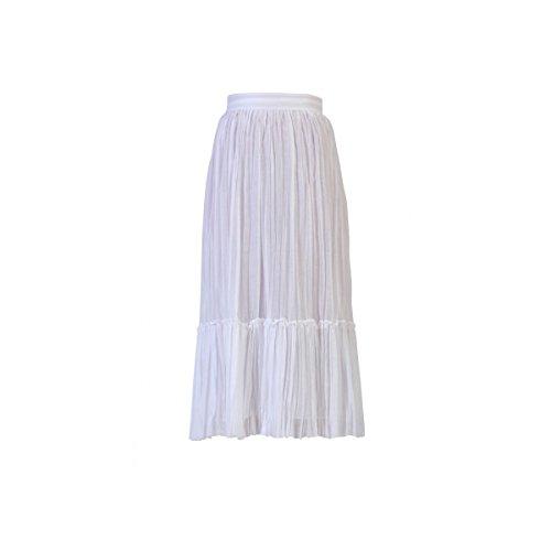 Valentino Femme MB3RA2D53110BO Blanc Coton Jupe