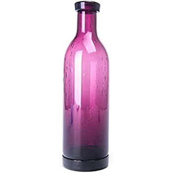 Luxury Art Hand Blown Glass Flower Bottle Art Solid Color Glass Bud Vase Small Vintage Ribbed Bubble Decor Glass Flower Bud Vase for Home Decor Wedding Party Celebration Orange 7.25