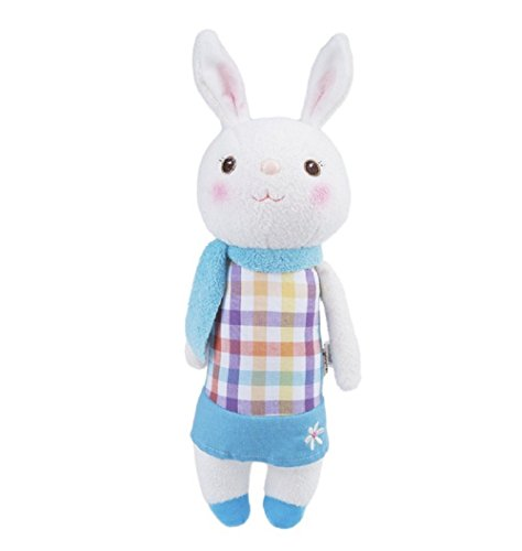 35cm Genuine Metoo Toys children Tiramisu Rabbits Cute Stuffed cartoon Animals Design Plush Toy Doll Birthday/Xmas/New year Gifts For Girls (Type D)