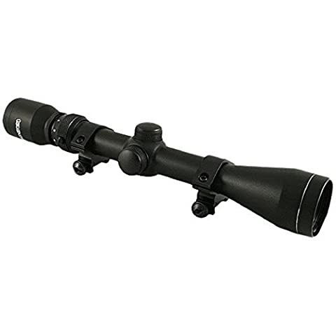 Tasco 3-9 X 40 Rifle Scope With Rings, Black (Tasco 3x9)