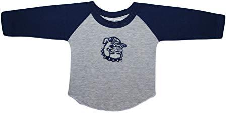 Georgetown University Bulldog Baby and Toddler 2-Tone Raglan Baseball Shirt Navy